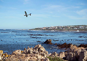 Flying over Sandbaai